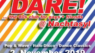 DARE! @ Nachtasyl, Thalia Theater, 80er, 80s, 80th, gay, queer, lgbt, Pop, Wave, Italo Disco, Dance Classics, Hamburg, frankie dare, wobo, wolfgang bonow, wham, young guns