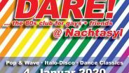 DARE! @ Nachtasyl, Thalia Theater, 80er, 80s, 80th, gay, queer, lgbt, Pop, Wave, Italo Disco, Dance Classics, Hamburg, frankie dare, wobo, wolfgang bonow, abba, happy new year, 2020, 20, karl ludger menke