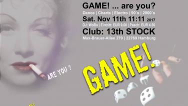 GAME!, 13 Stock, Bar Rossi, November, 2017, Hamburg